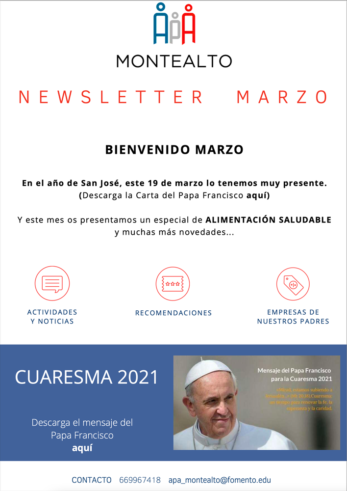 Boletín de marzo de 2021